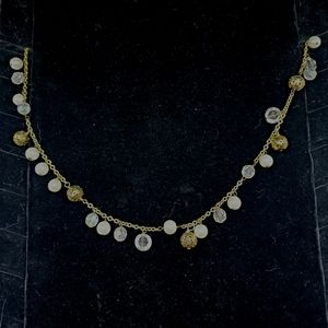 Cookie Lee Gold & White Necklace